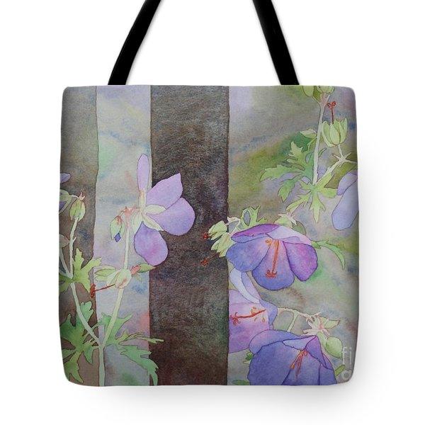 Purple Ivy Geranium Tote Bag