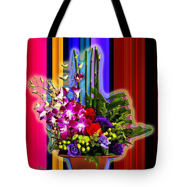 Purple Lady Flowers Tote Bag