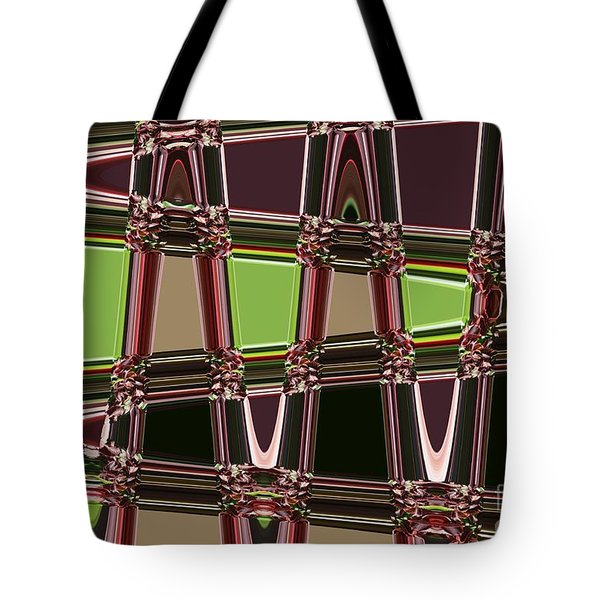 Purple Leaves Abstract Tote Bag by Carol Groenen