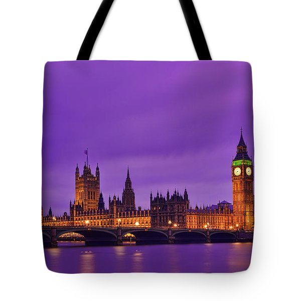 Purple Light Tote Bag