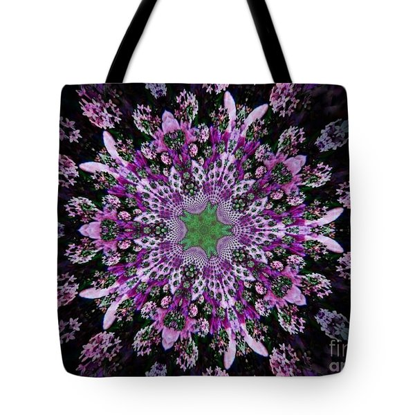 Purple Lilac Kalidescope Tote Bag