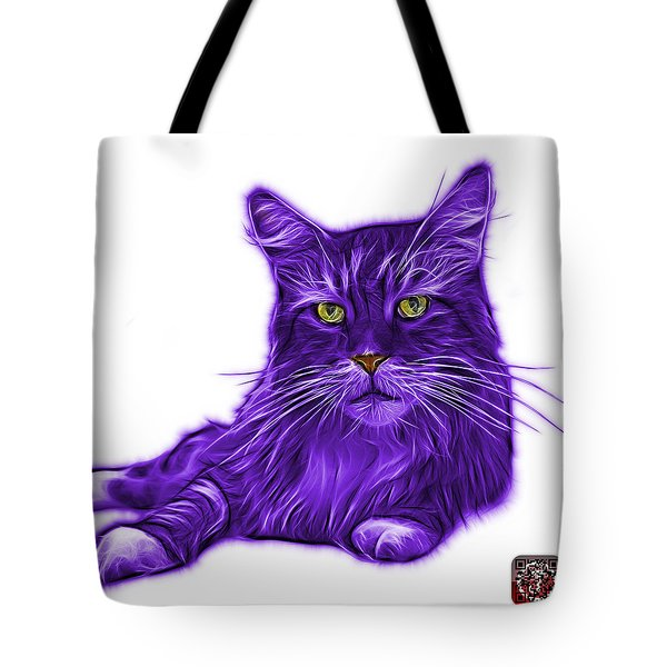 Purple Maine Coon Cat - 3926 - Wb Tote Bag