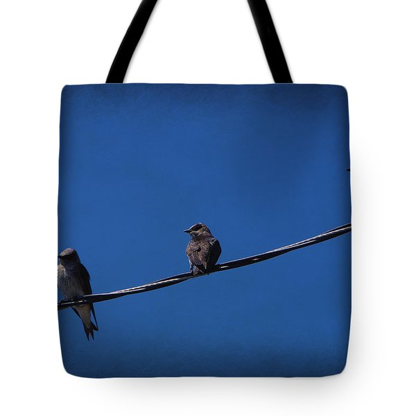 Purple Martin Trio Tote Bag