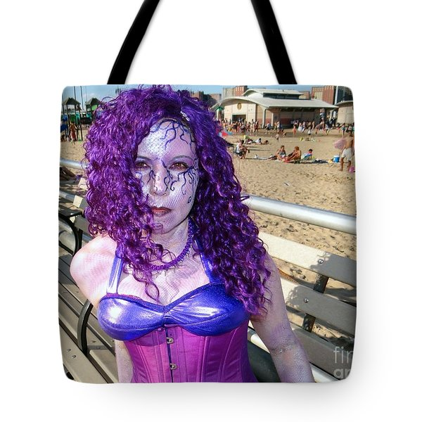 Tote Bag featuring the photograph Purple Mermaid by Ed Weidman