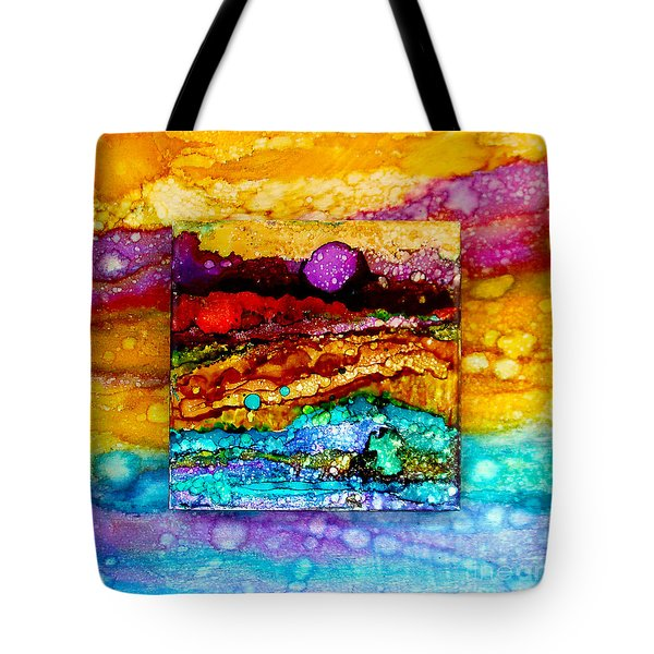 Purple Moon Double Canvas Tote Bag