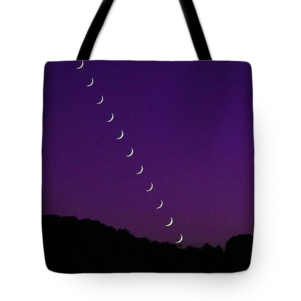 Purple Moon Setting In West Tote Bag