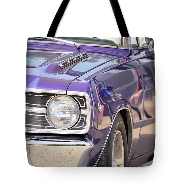Purple Mopar Tote Bag by Bonfire Photography