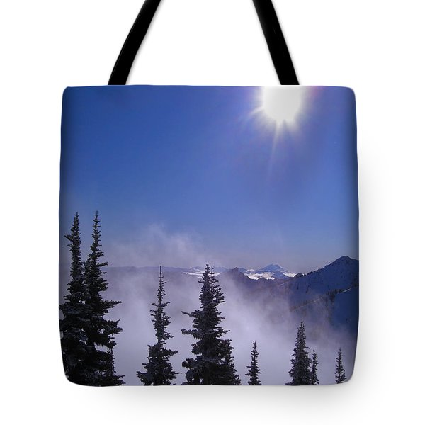 Purple Mountains Majesty Tote Bag by Kym Backland