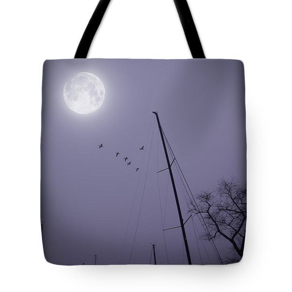 Purple Night Tote Bag by Brian Wallace