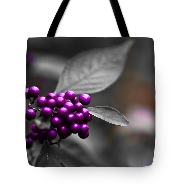 Purple Only Tote Bag
