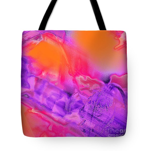 Purple Orange Pink Abstract Tote Bag