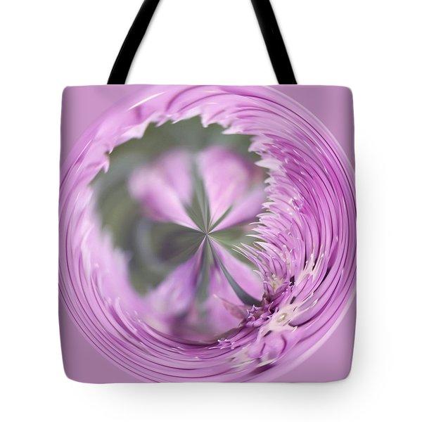 Purple Orb Tote Bag by Kim Hojnacki