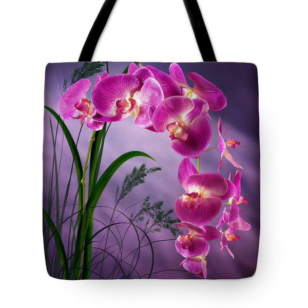 Purple Orchid Tote Bag by Nina Bradica
