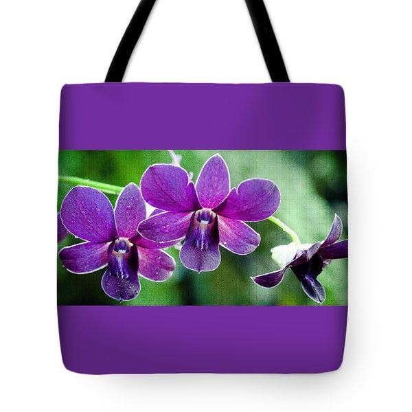 Purple Orchids Tote Bag