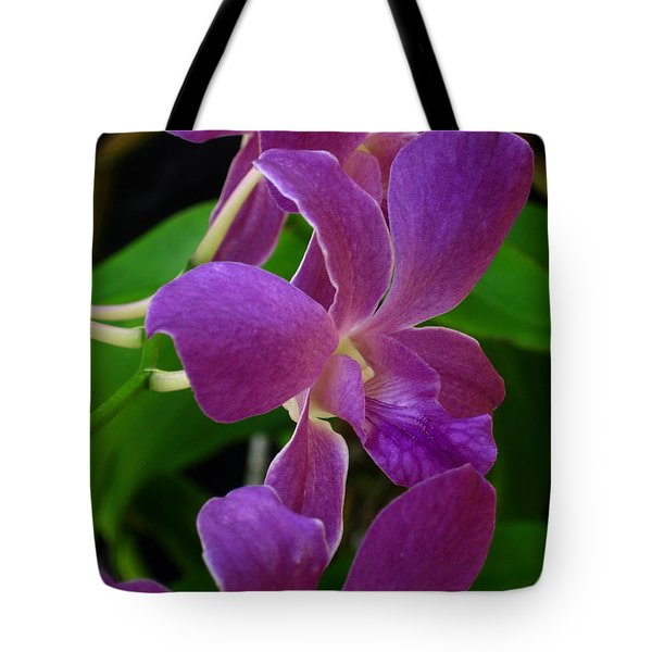 Purple Over Green Tote Bag