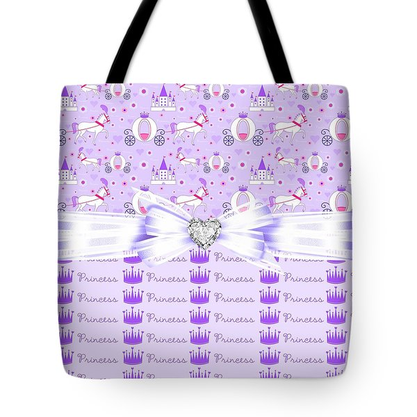 Purple Passion Princess  Tote Bag by Debra  Miller