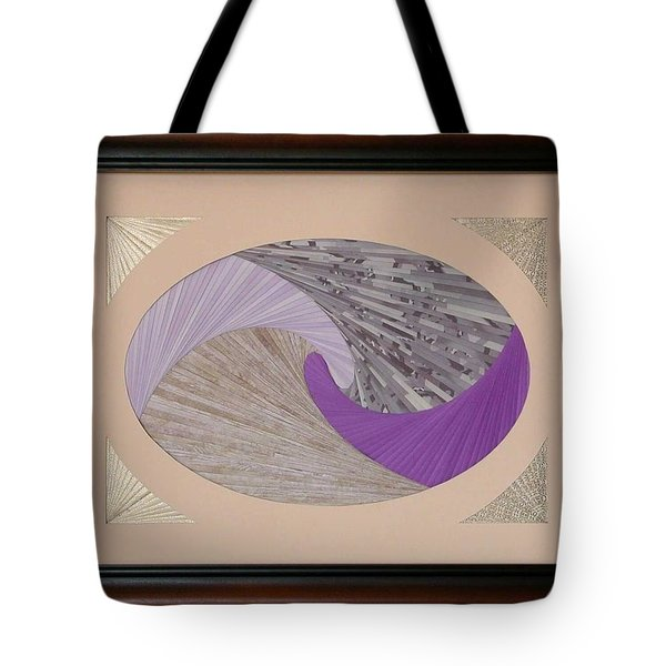 Tote Bag featuring the mixed media Purple Passion by Ron Davidson