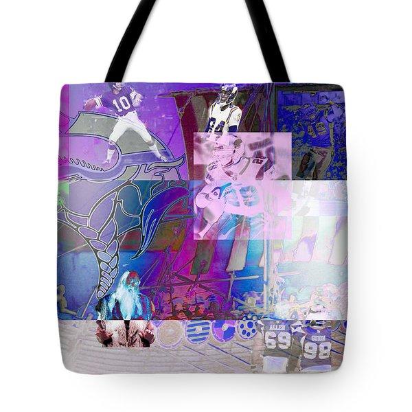 Purple People Eaters Tote Bag by Jimi Bush