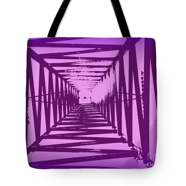 Tote Bag featuring the photograph Purple Perspective by Clare Bevan