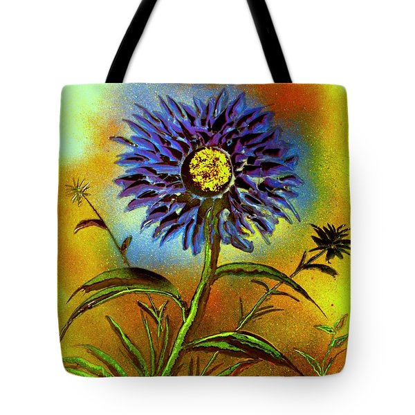 Tote Bag featuring the painting Purple Petals by Greg Moores