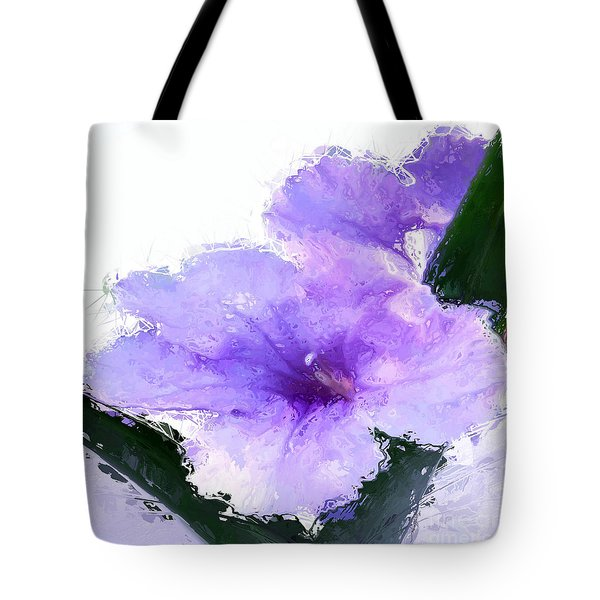 Tote Bag featuring the digital art Purple Petunia by Anthony Fishburne
