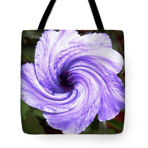 Purple Petunia Twirl Tote Bag by Belinda Lee