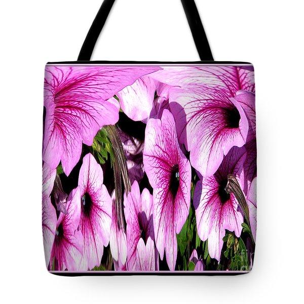 Purple Petunias Abstract Tote Bag by Rose Santuci-Sofranko