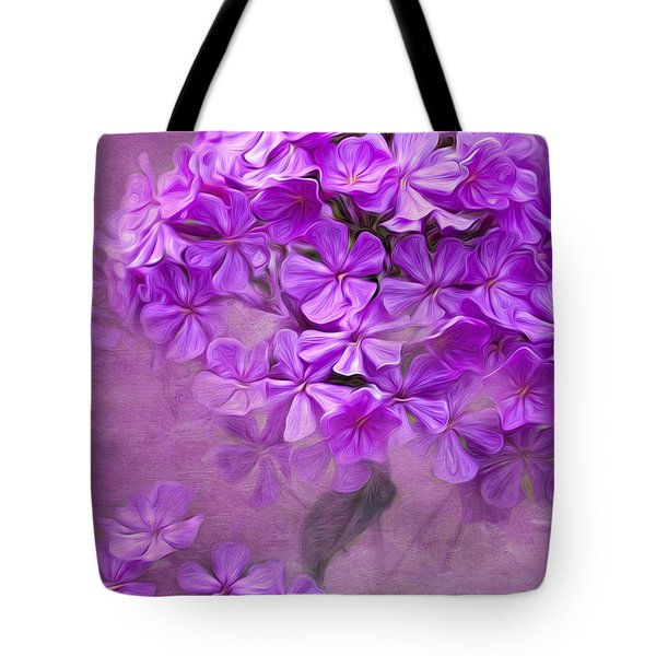 Purple Phlox Tote Bag by Lena Auxier
