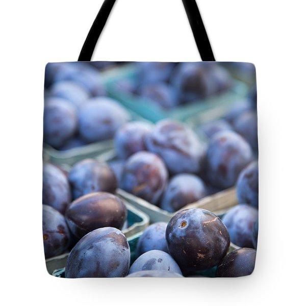 Purple Plums Tote Bag