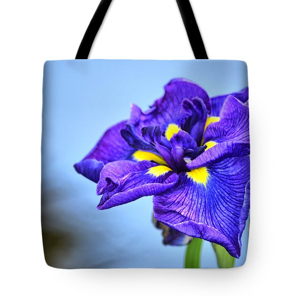 Purple Pond Iris Tote Bag