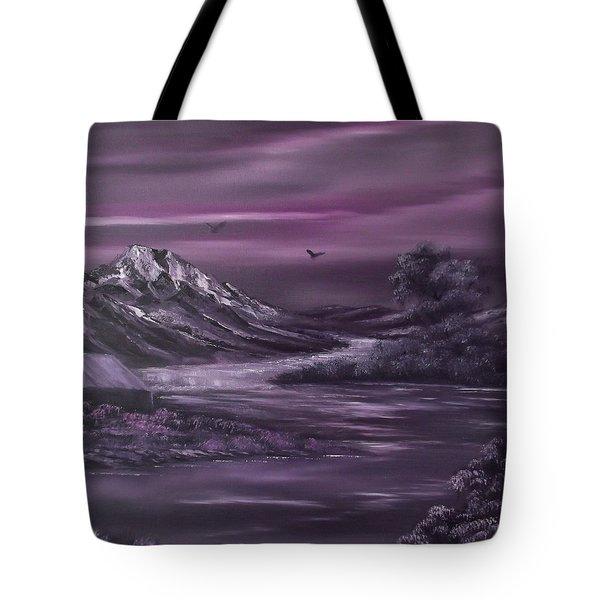 Purple Rain 2 Tote Bag by Cynthia Adams