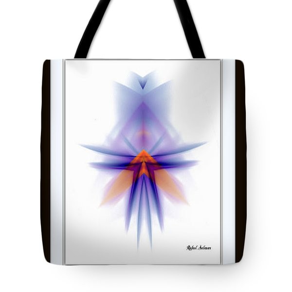Tote Bag featuring the painting Purple Rain by Rafael Salazar