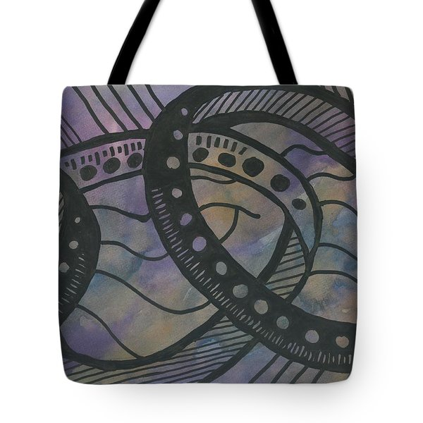 Purple Rings Tote Bag