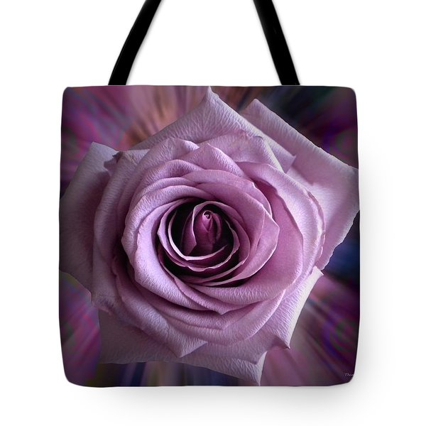 Purple Rose Tote Bag by Thomas Woolworth