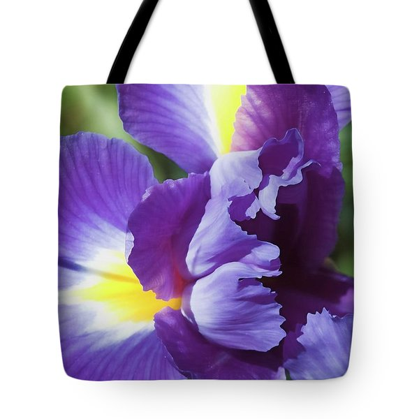 Purple Ruffles Tote Bag
