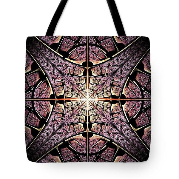 Purple Shield Tote Bag by Anastasiya Malakhova