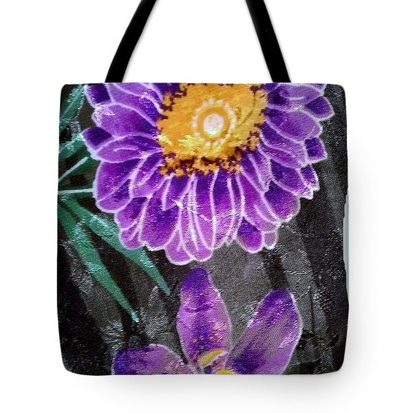 Tote Bag featuring the photograph Purple Silk by Fortunate Findings Shirley Dickerson