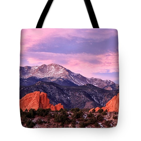 Purple Skies Over Pikes Peak Tote Bag by Ronda Kimbrow