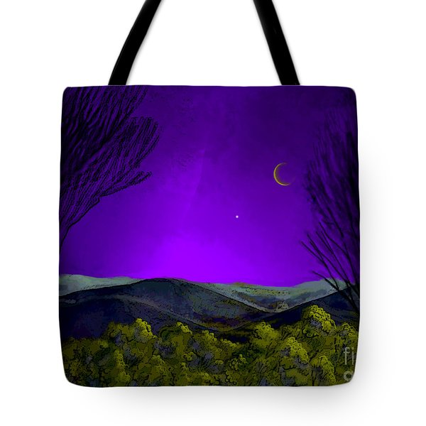 Purple Sky Tote Bag by Carol Jacobs