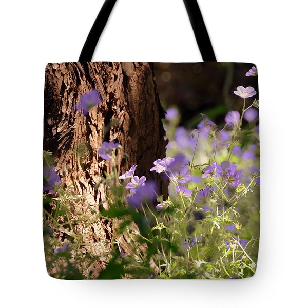 Purple Splash Tote Bag