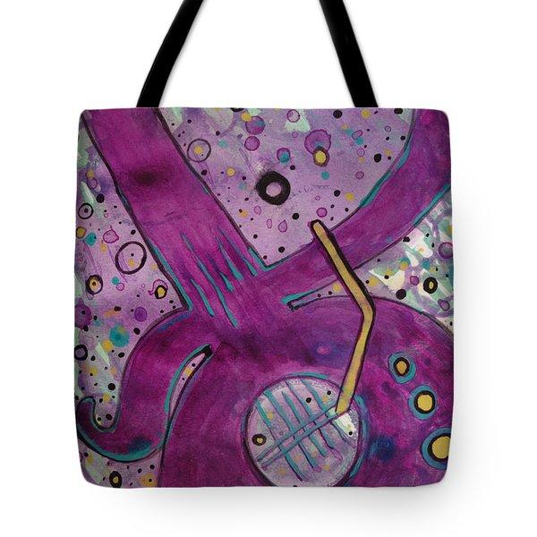 Purple Strings Tote Bag