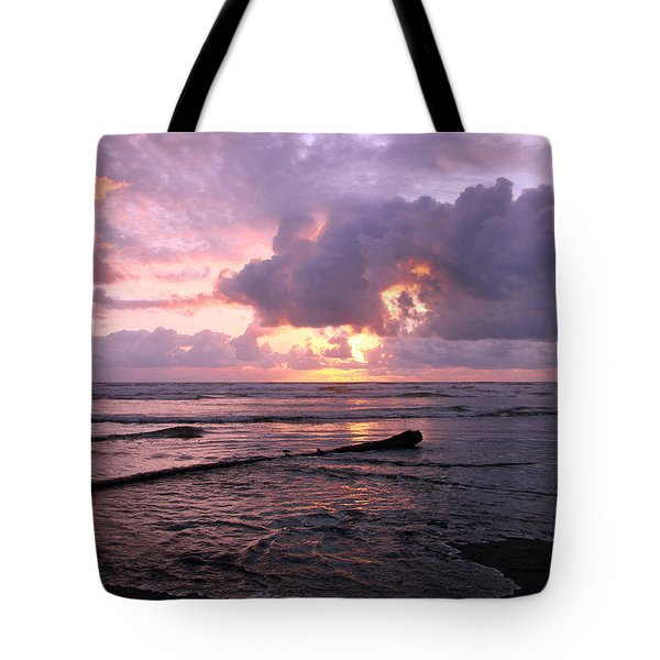 Tote Bag featuring the photograph Purple Pink Sunset by Athena Mckinzie