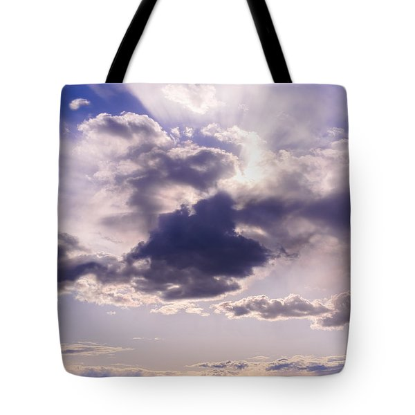 Purple Sunset On The Hudson River Tote Bag