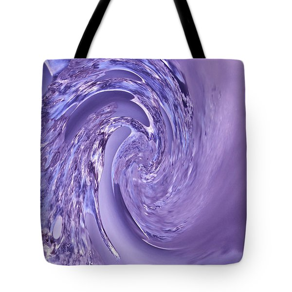 Purple Swirl Tote Bag by Kathleen Scanlan