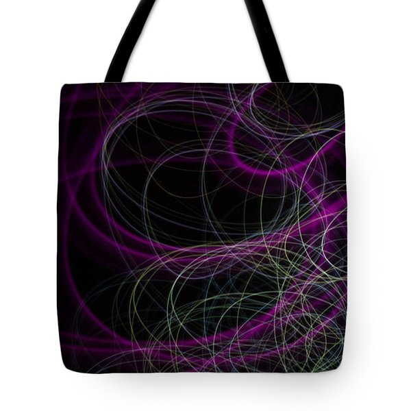 Purple Swirls Tote Bag