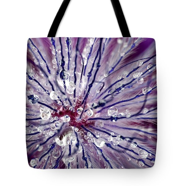 Purple Tentacles In Abstract Flower Shot Tote Bag