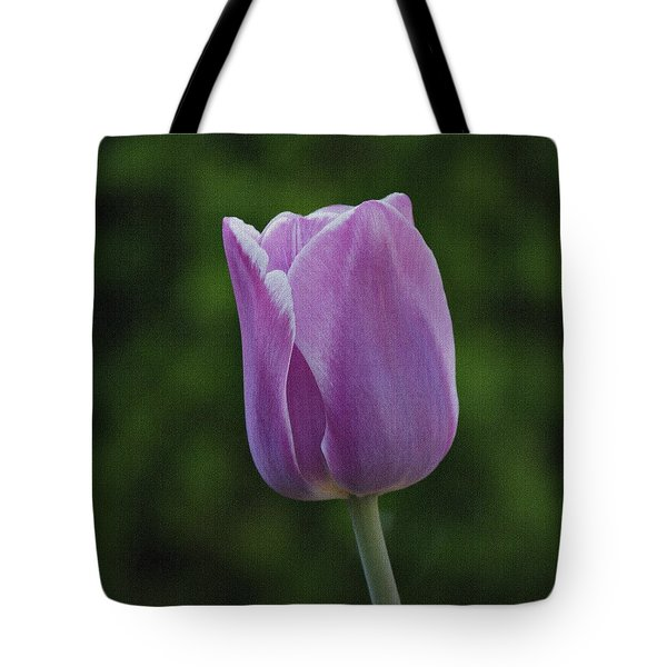 Purple Tulip Tote Bag by Sandy Keeton