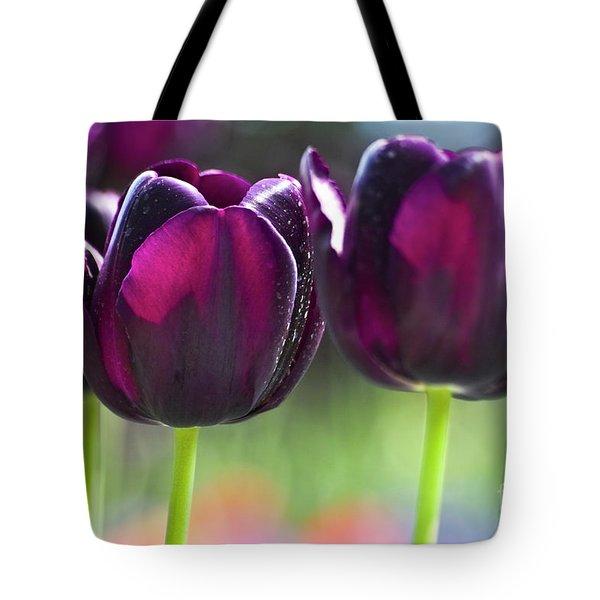 Purple Tulips Tote Bag