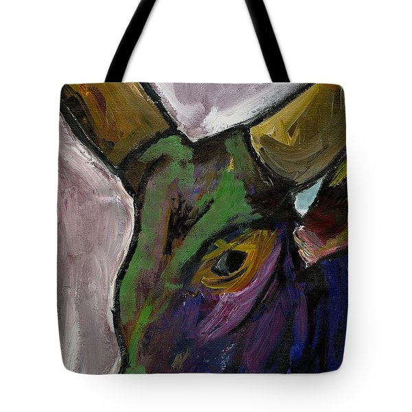 Purple Ugandan Cow Tote Bag