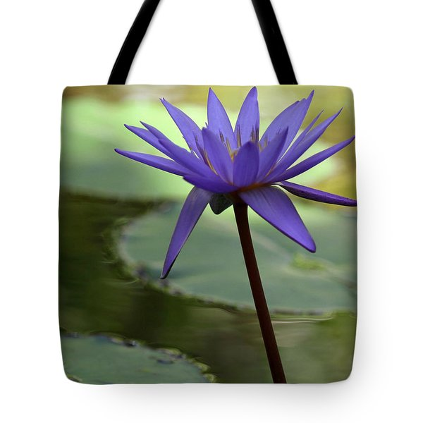 Purple Water Lily In The Shade Tote Bag by Sabrina L Ryan
